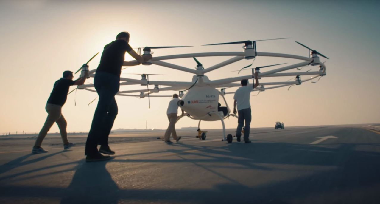 Flying Taxi Rolled out for Flight