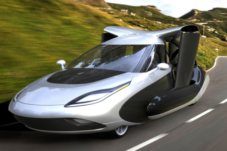 TF-X Flying Car on Road