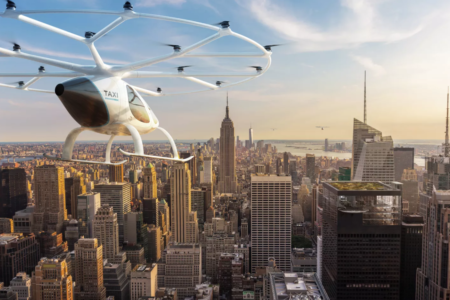 Volocopter over NYC