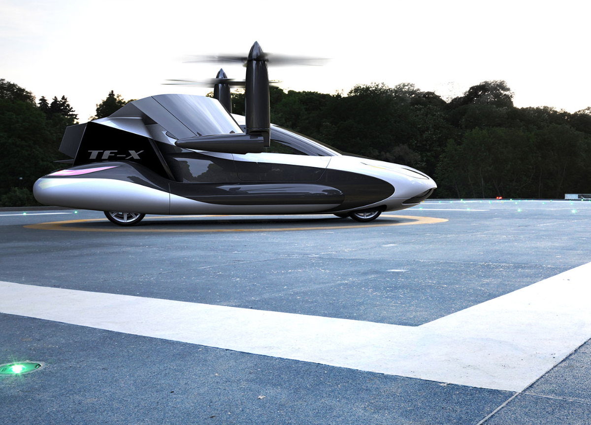 TF-X on Landing Pad