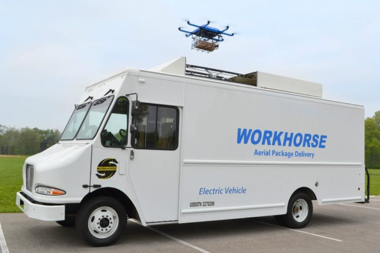 Workhorse electric van and autonomous package delivery system