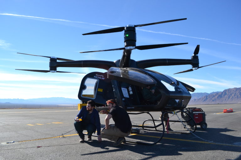 The Workhorse Surefly with future owners posing