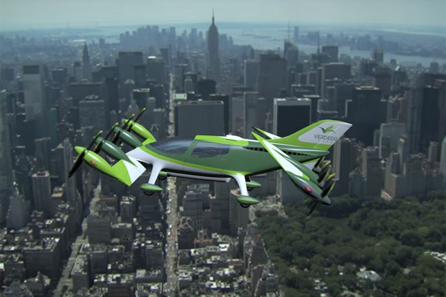 Verdego Aero Flying Car in Flight