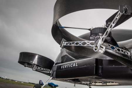 Vertical Aerospace Flying Car Bottom Up View