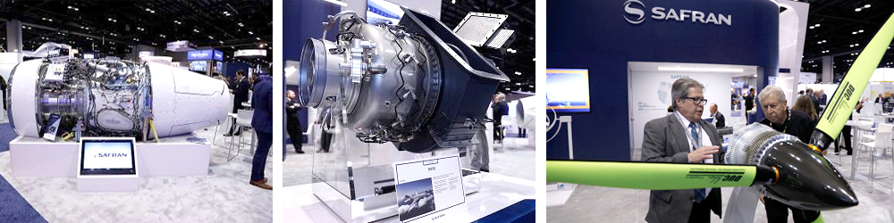 The Safran line at the NBAA Miami 2018