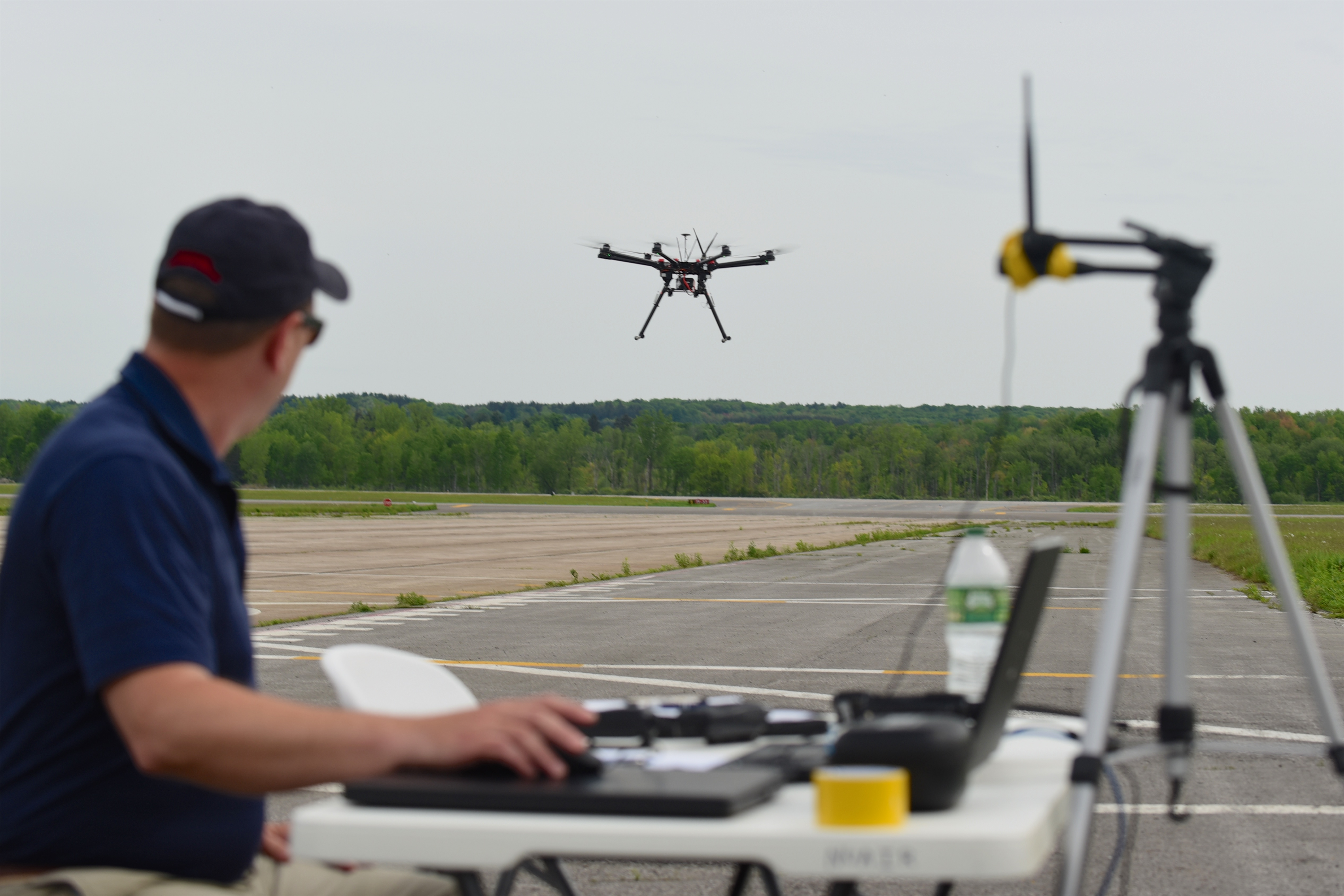 NASA Engineer testing a UAV (Unmanned Aerial Vehicle)