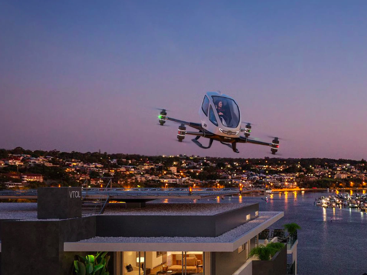 Air Taxi landing pad at Taskers residential development in australia