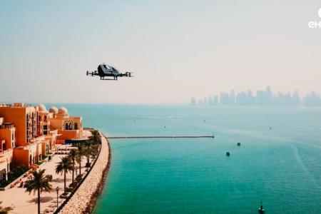 EHANG Over Qatar