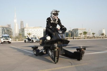 Dubai Police Train on Hoverbike