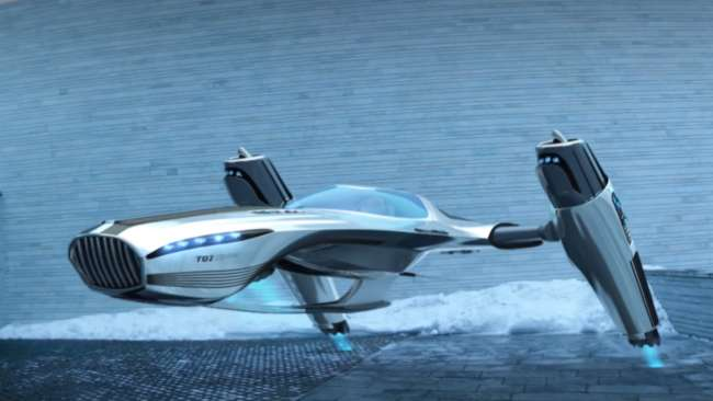An Ionic Wind Flying Car Concept