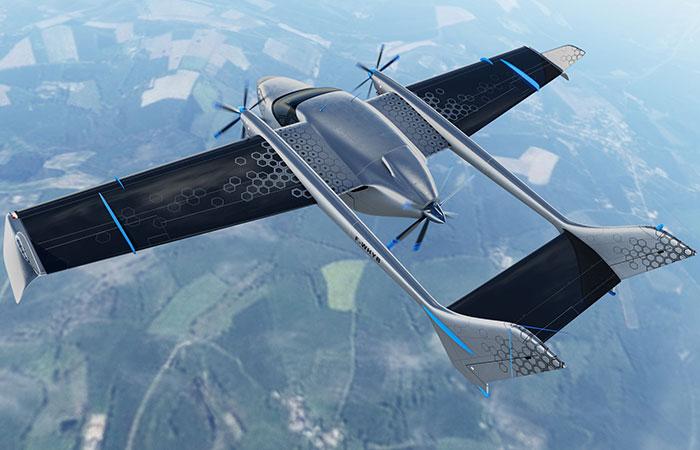 Voltaero aircraft as seen from above