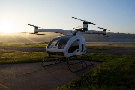 Surefly eVTOL air taxi octocopter hybrid electric