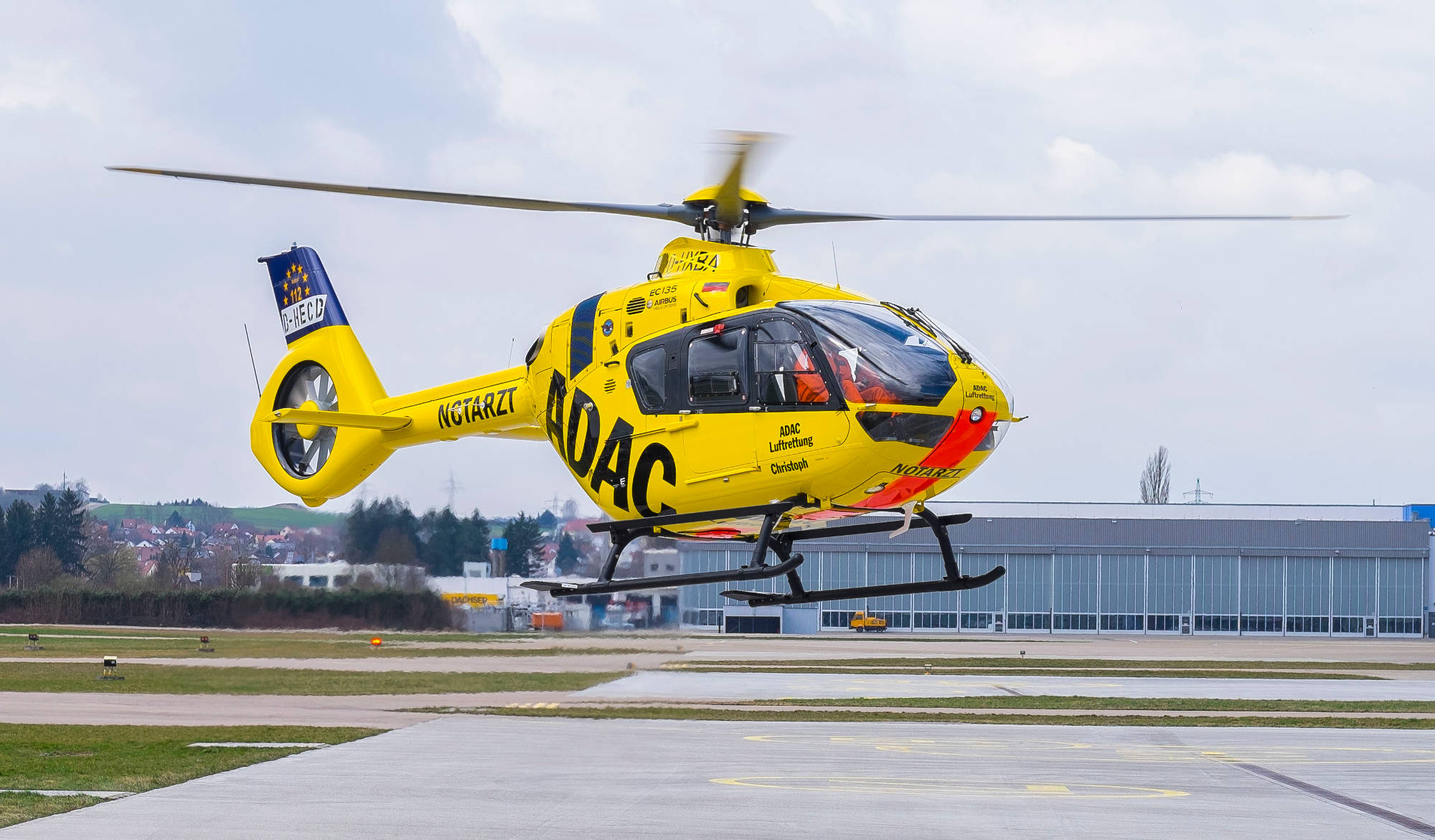 ADAC rescue helicopter germany air