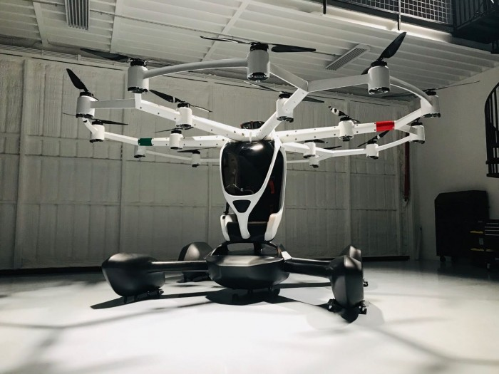 Lift Aircraft Hexa personal flying machine prototype eVTOL urban air mobility
