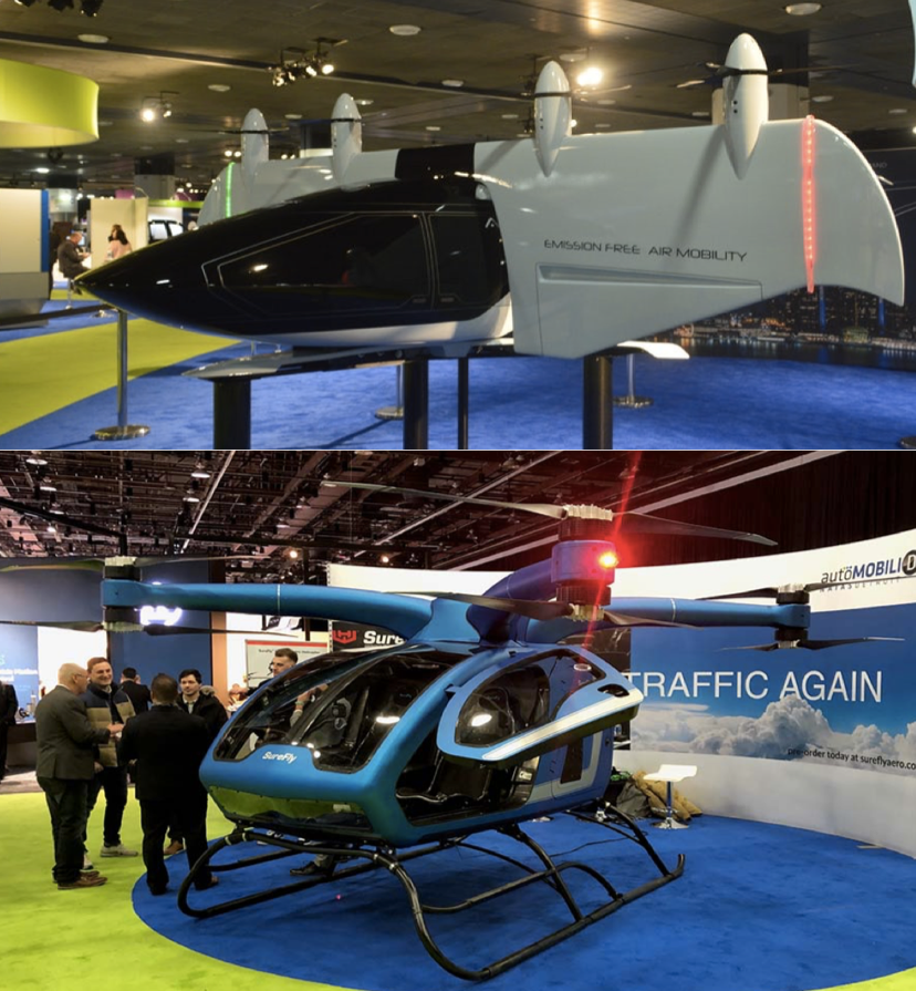 AirSpaceX and Workshorse SureFly at Detroit Autoshow