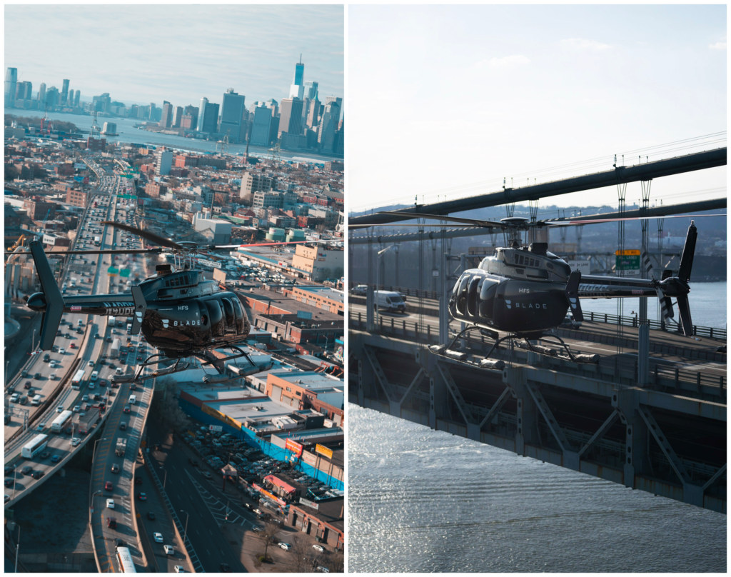 Helicopter flights across Manhattan