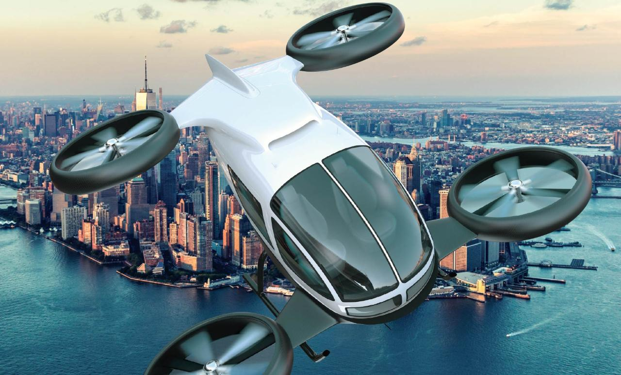 Conceptual image for drone services in cities