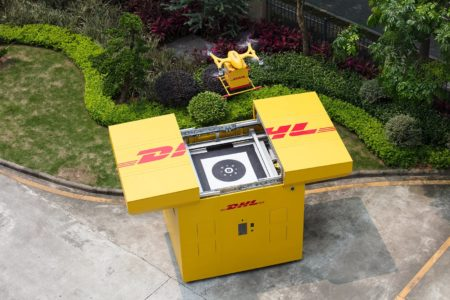 DHL and chang's Drone Deliveries In China