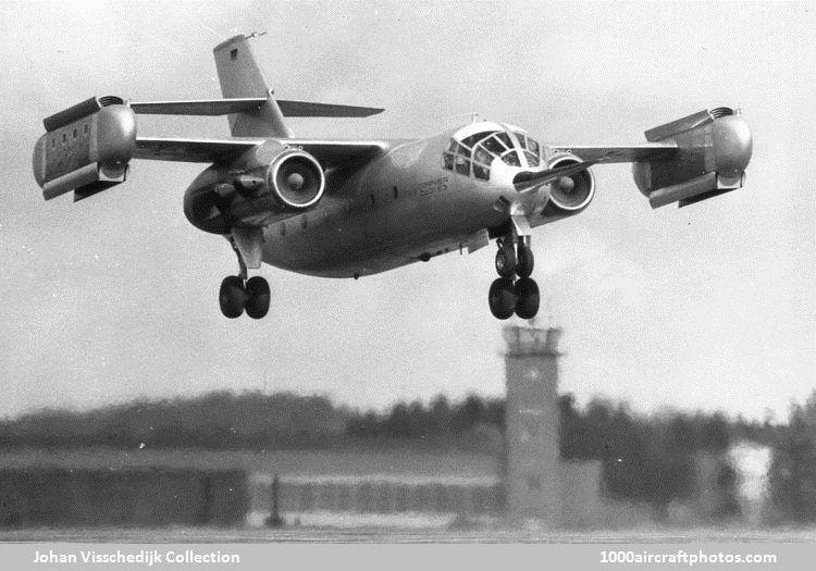 Dornier Do 31 VTOL Jet in flight