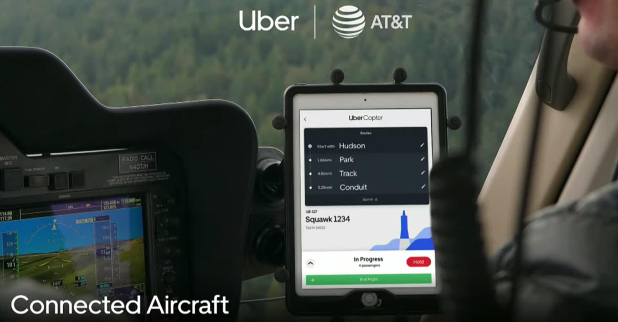 Uber Air and AT&T