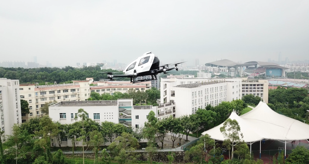 EHang recently partnered with the Guangzhou municipal government to be its first pilot city.