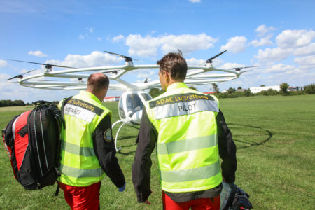 ADAC using a Volocopter as part of its ongoing study on eVTOL aircraft.