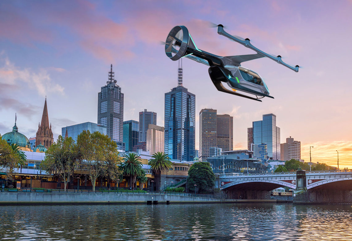 Melbourne will be Uber's first international host city of the company's air pilot program.