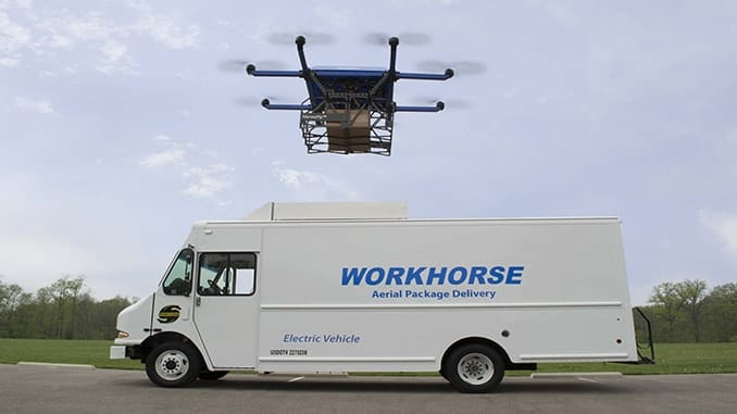 Workhorse's HorseFly system integrates ground and air transportation.