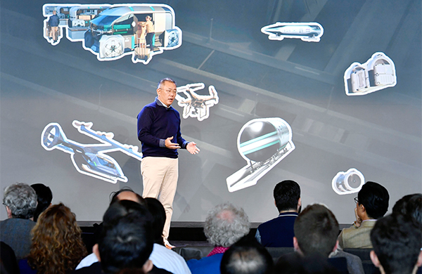 Chung Euisun, executive vice chairman at Hyundai Motor Group, unveiled its plans for UAM at the Mobility Innovators Forum 2019 in San Francisco.