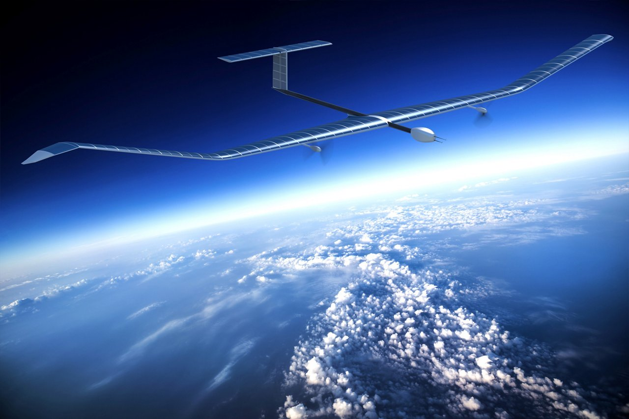 An artist's rendition of Zephyr, Airbus' high altitude, low speed UAV.