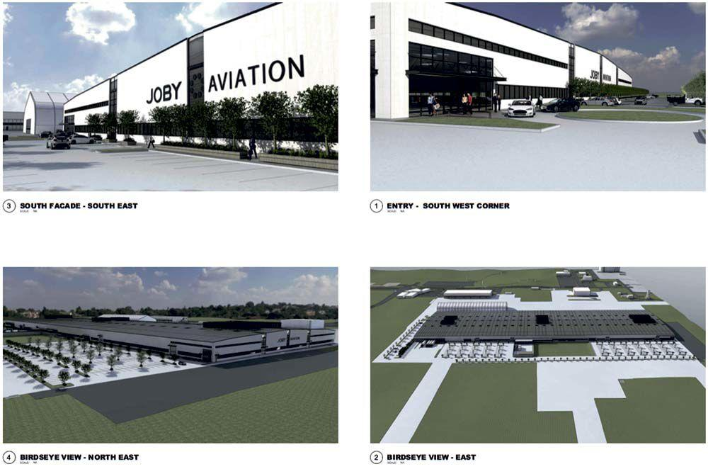 Plans for Joby's new factory at Marina Municipal Airport. Source: City Of Marina Draft Initial Study