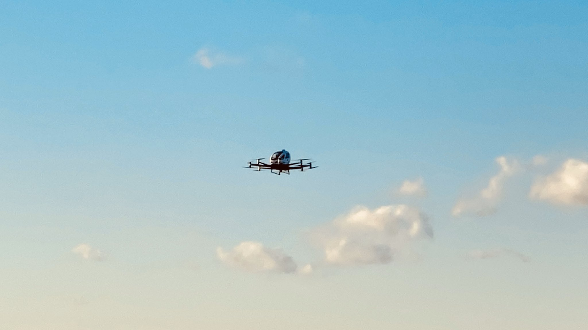 EHang 216 in flight