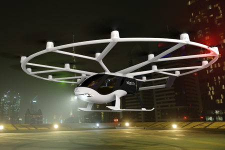 Volocopter's first flight model, VoloCity which will feature flight-control computers from Diehl Aerospace