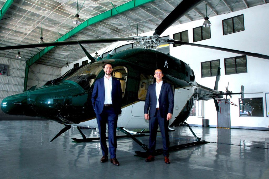 Ascent Urban Air Mobility founders Darren Tng and Lionel Sinai-Sinelnikoff
