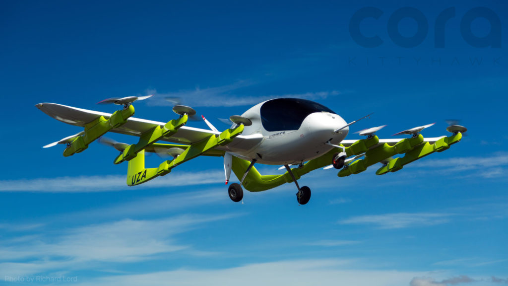 WISK CORA autonomous electric air taxi
