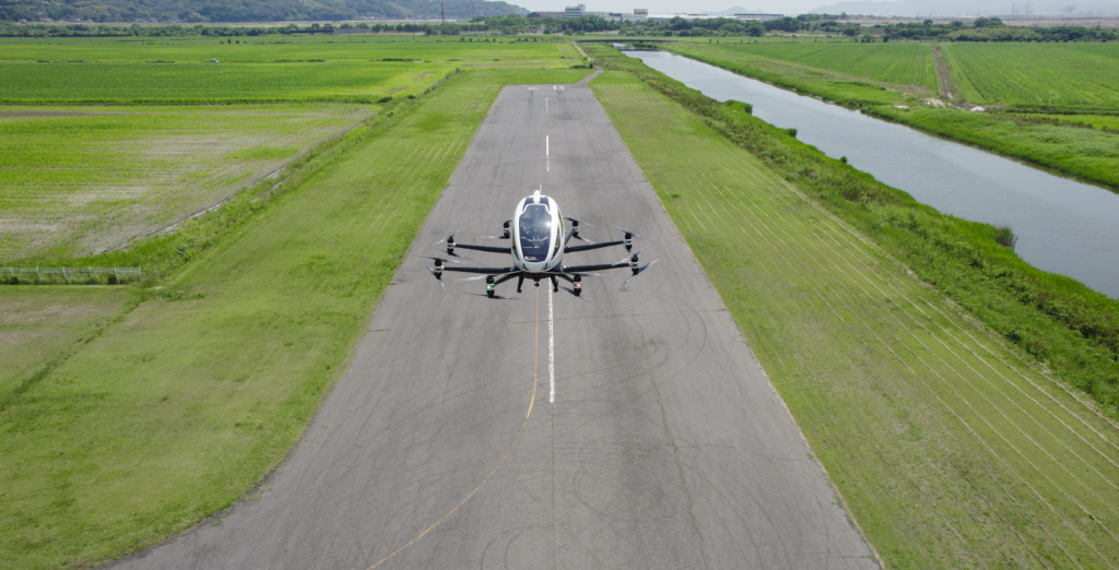 EHang Flight Testing in Japan